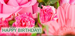 Say Happy Birthday with fresh flowers, creatively designed by C & J Florist.