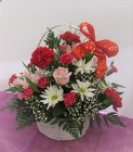 C & J Florist Basket of Valentine Wishes